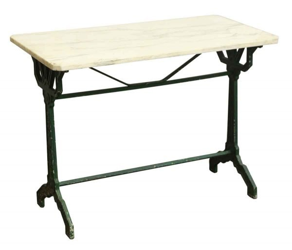 French Bistro Table with Marble Top - Kitchen & Dining