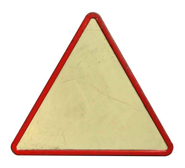 Large Vintage Triangle Road Sign - Vintage Signs