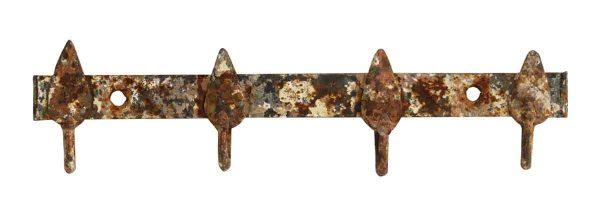 Vintage Distressed Painted Wrought Iron Rack - Racks