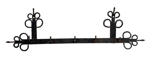 Reclaimed Black Wrought Iron Country Rack - Racks