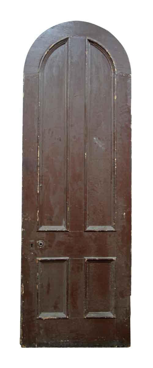 Antique Salvaged Arched Top Four Panel Door Olde Good Things
