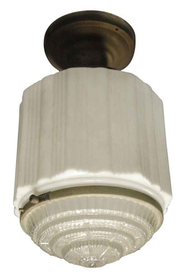 Vintage Art Deco Ice Cream Parlor Light - Globes & Shades