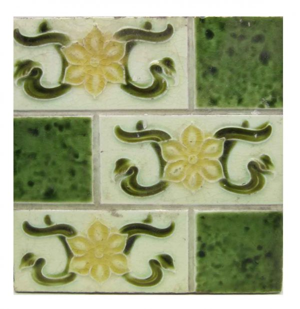 Antique Green & Yellow Divided Tile - Wall Tiles