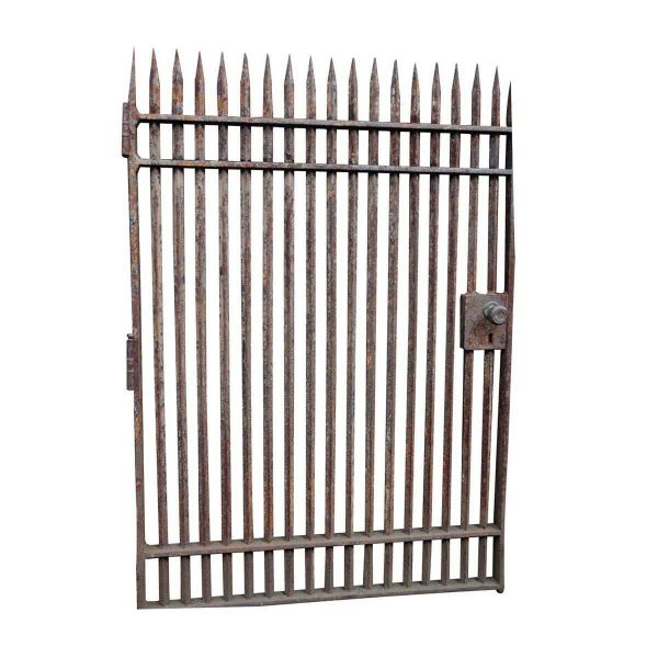 Antique Wrought Iron Security Gate with Spikes - Gates