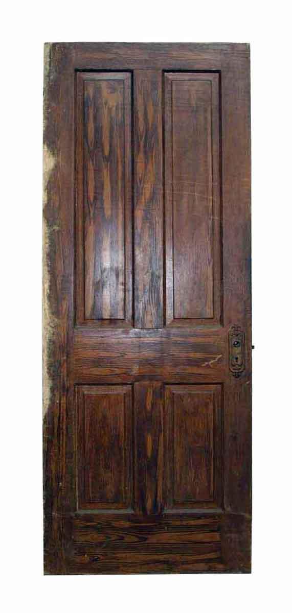 Antique Salvaged Four Panel Wooden Door - Standard Doors