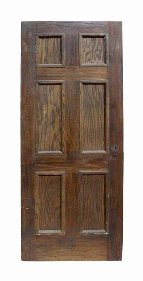 Antique Six Panel Oak Wooden Door - Standard Doors