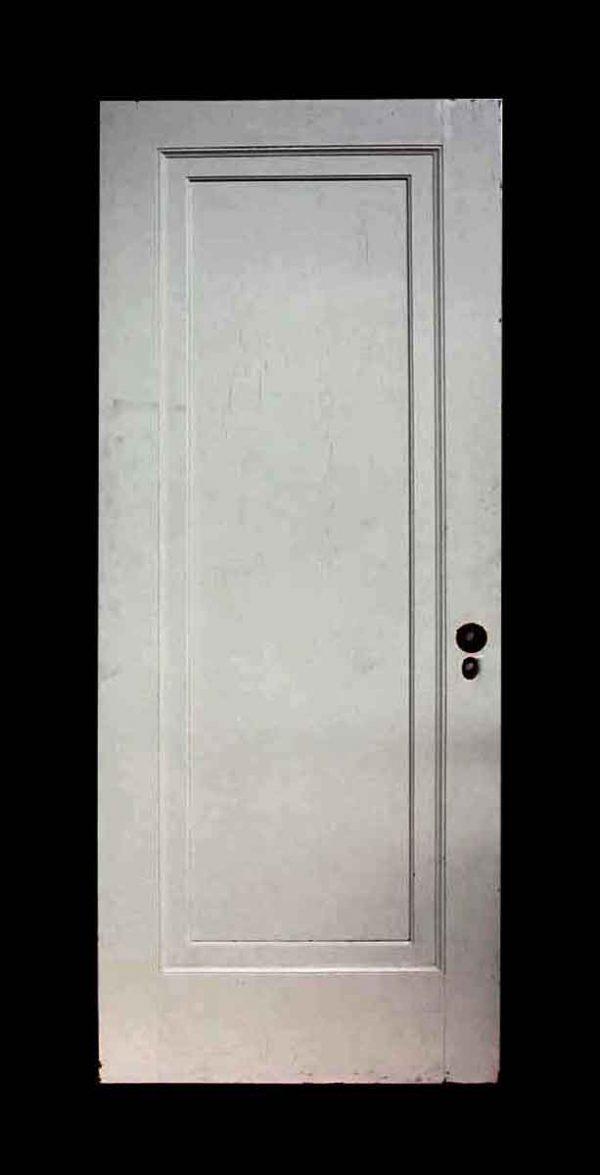 Old White Single Panel Oak Apartment Door - Standard Doors