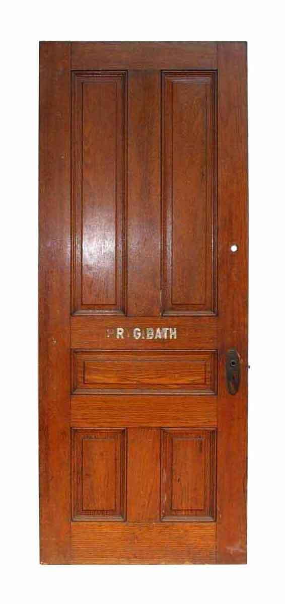 Antique Five Panel Oak Wooden Door - Standard Doors