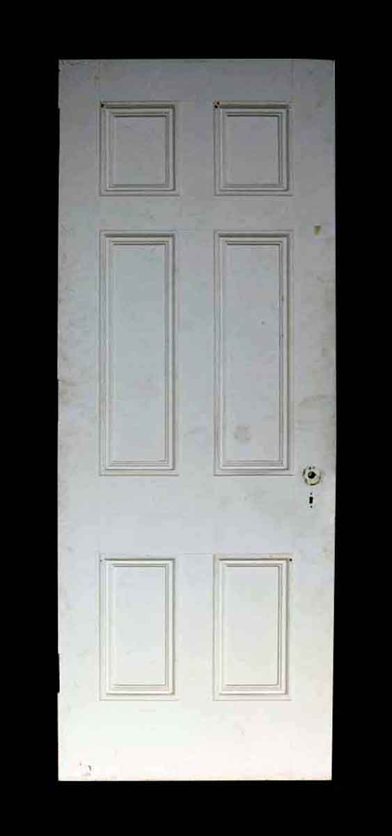 Antique White Painted Six Panel Wood Door - Standard Doors