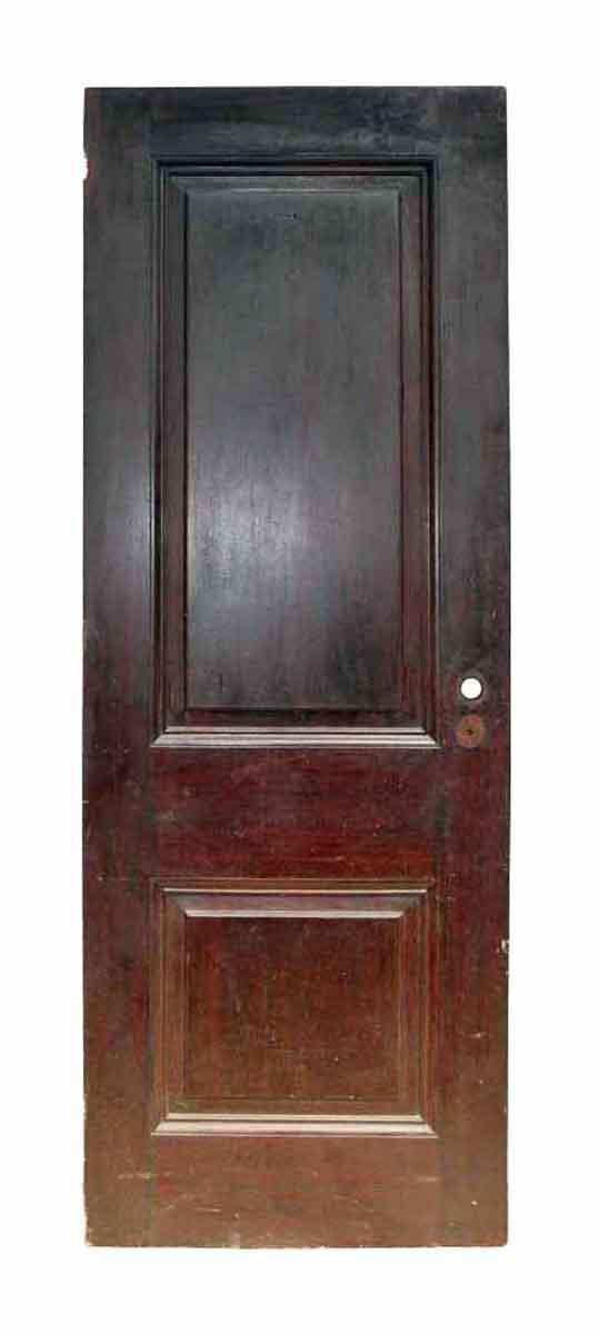 Antique Two Panel Interior Wood Door - Standard Doors