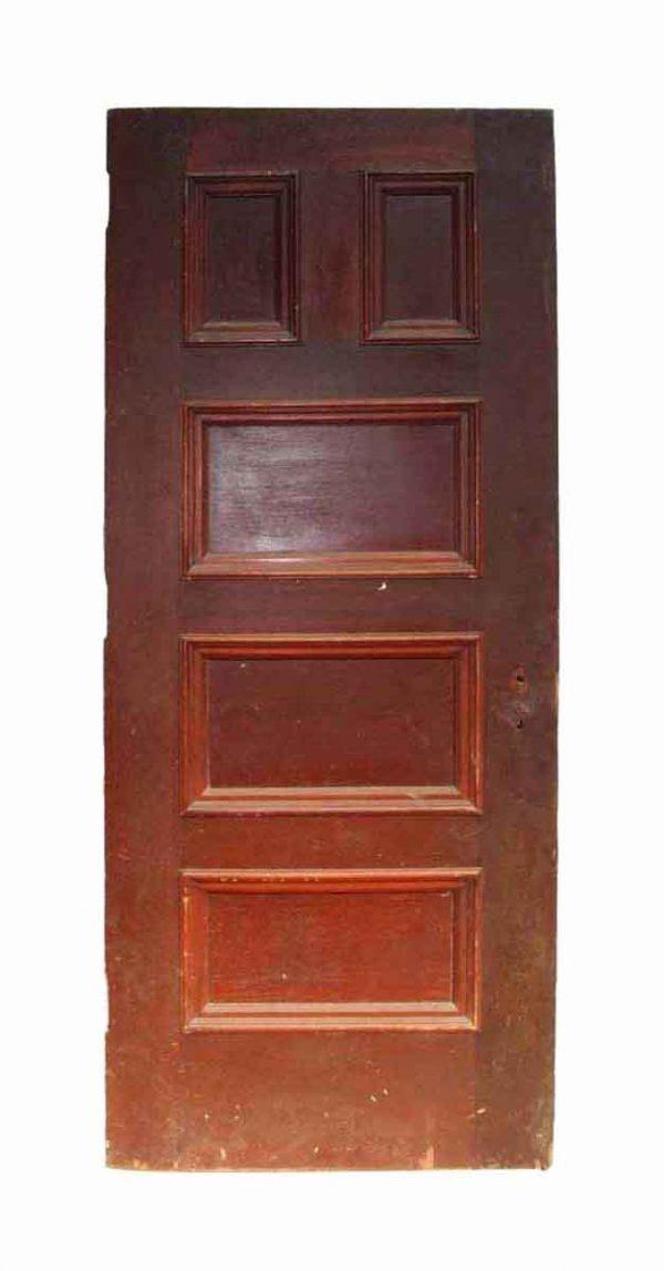 Antique Five Panel Interior Wood Door - Standard Doors