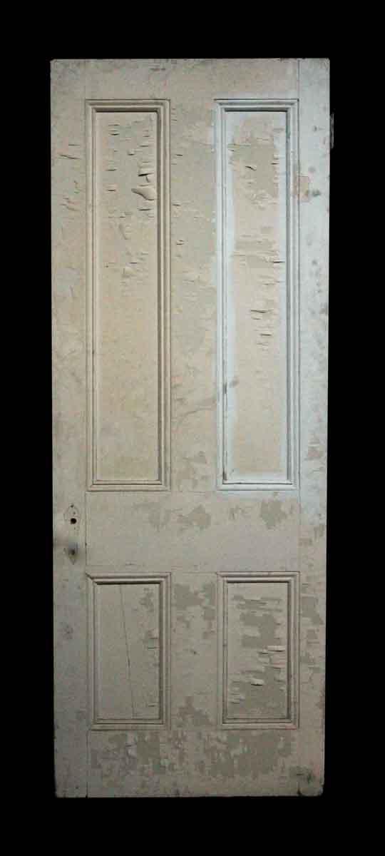 Old Four Panel Door with Distressed Paint - Standard Doors