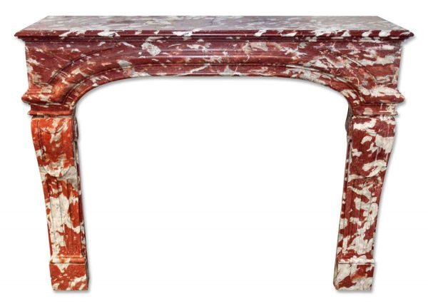 Louis XIV French Brown Marble Mantel - Danny Alessandro Mantels