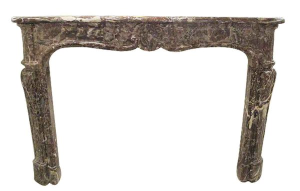 Louis XV Rouge Royale Gray Marble Mantel - Danny Alessandro Mantels