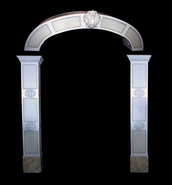 Ornate Pedestal Column Archway Moldings - Columns & Pilasters