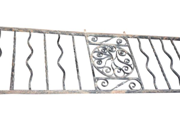 28 ft. Wrought Iron Pin Wheel Balcony Railing - Balconies & Window Guards