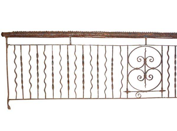 Wrought Iron Balcony with Fleur de Lis Design - Balconies & Window Guards