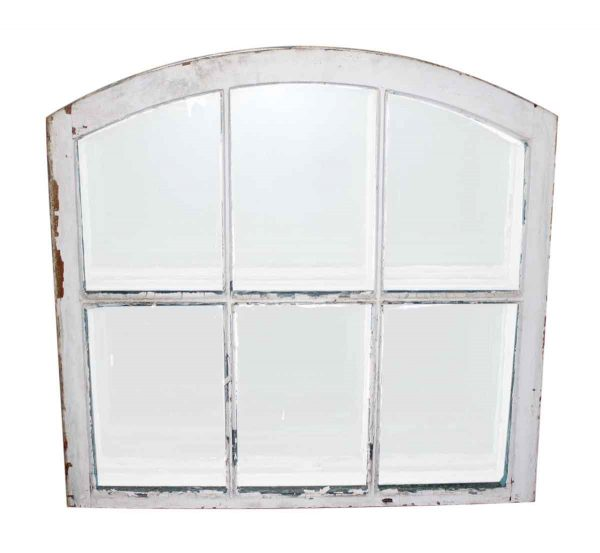Arched Top Antique Wavy Glass French Multi Pane Window - Reclaimed Windows