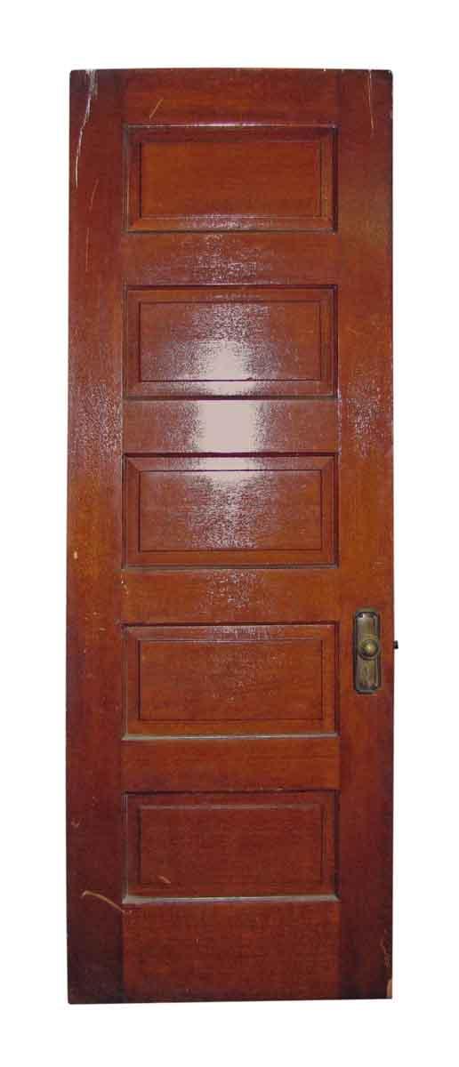 Five Panel Oak Old Door with Hardware - Standard Doors