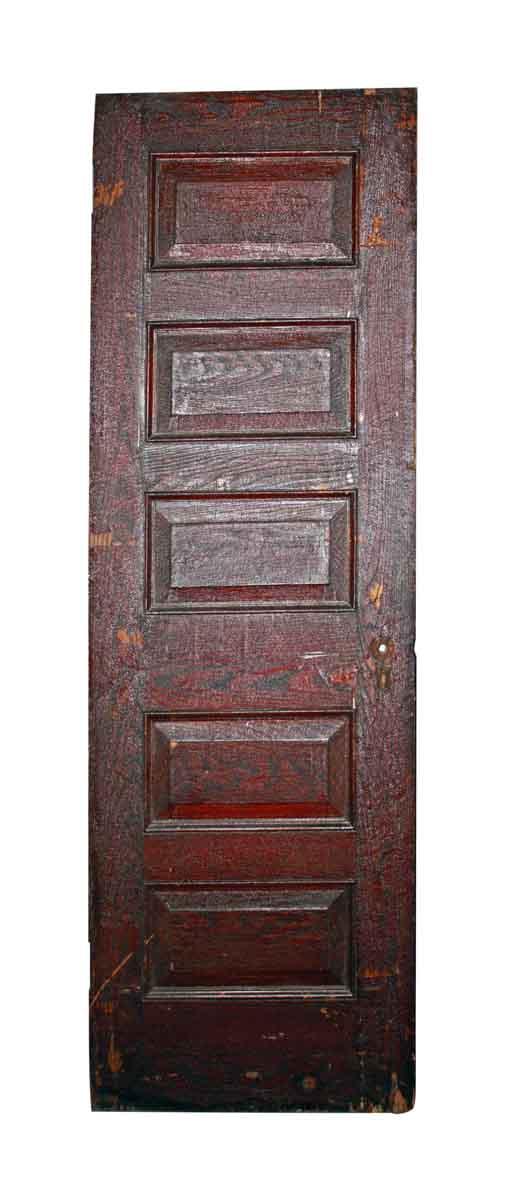 Antique Oak Door with Six Panels - Antique Oak Door With Six Panels Olde Good Things