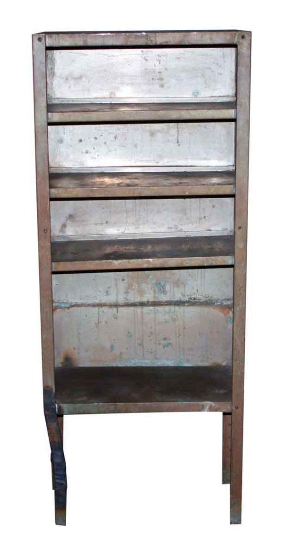 Salvaged Steel Shelf with Brass Finish - Flea Market