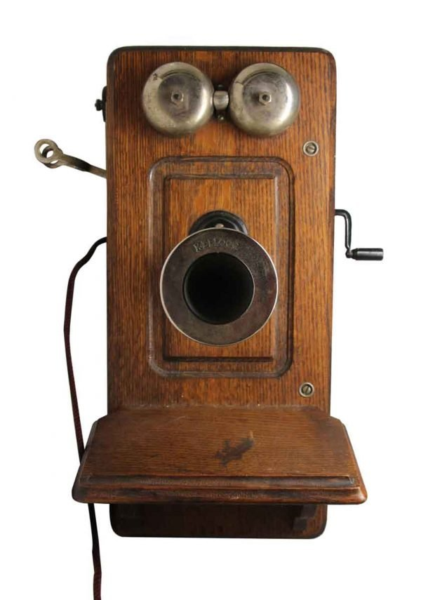 Antique Kellogg Wall Phone - Electronics