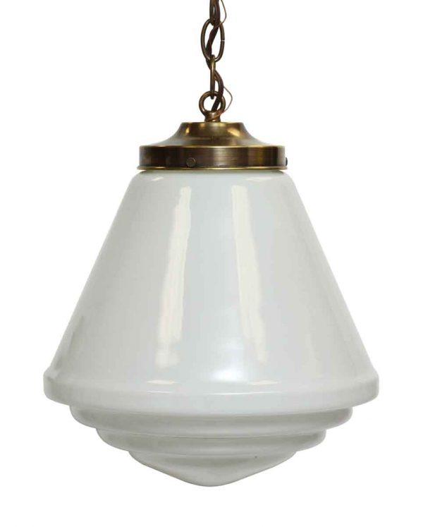 Art Deco School House Glass Pendant Light Fixture - Globes