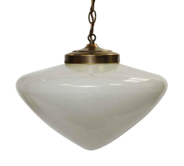 Mid Century School House White Globe Pendant Light - Globes