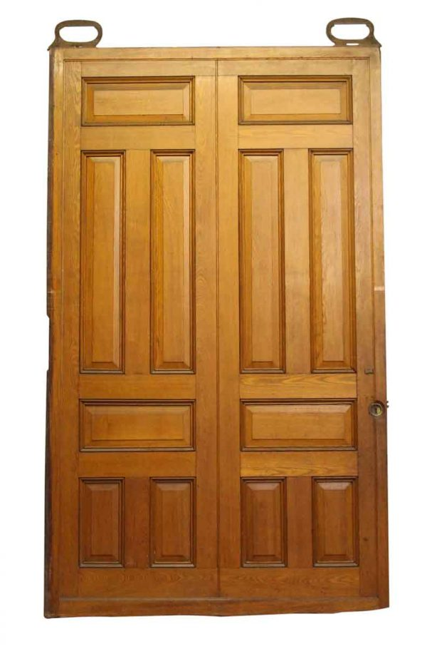 Raised Panel Oak Pocket Doors - Pocket Doors
