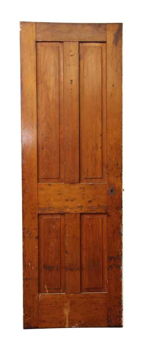 Antique Single Four Panel Wood Farm House Door - Standard Doors