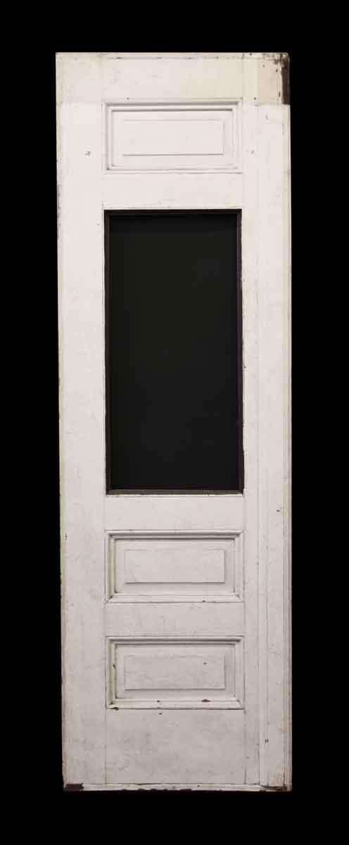 Antique Wooden Door with Vertical Glass Panel | Olde Good Things
