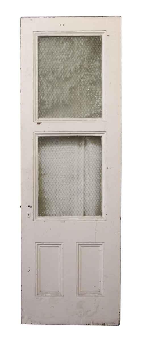Tall Door with Two Chicken Wire Glass Panels - Standard Doors