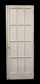 Antique Salvaged 12 Glass Panel French Door