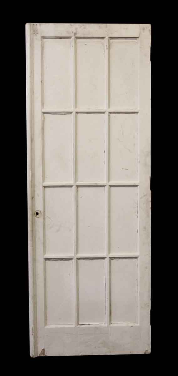 Antique Salvaged 12 Glass Panel French Door - Antique Salvaged 12 Glass Panel French Door Olde Good Things