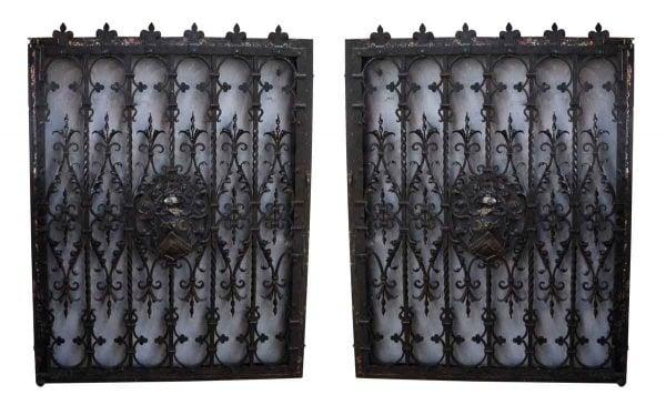 Pair of 19th Century Tudor Wrought Iron Window Guards - Decorative Metal