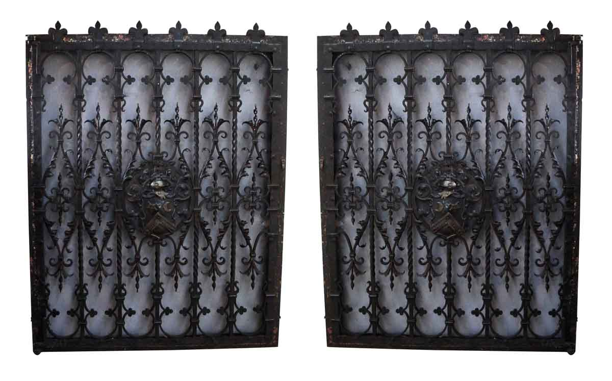 Pair of 19th century tudor wrought iron window guards for Window guards