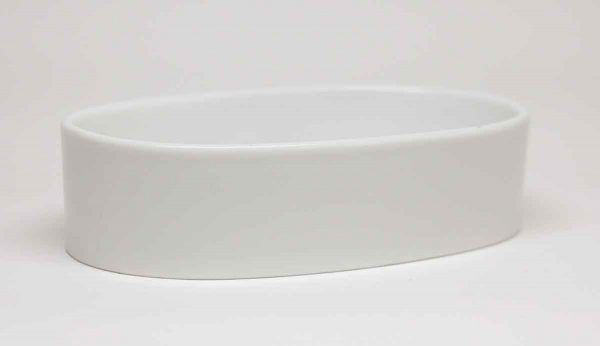 Vintage Oval White Ceramic Soap Dish - Bathroom