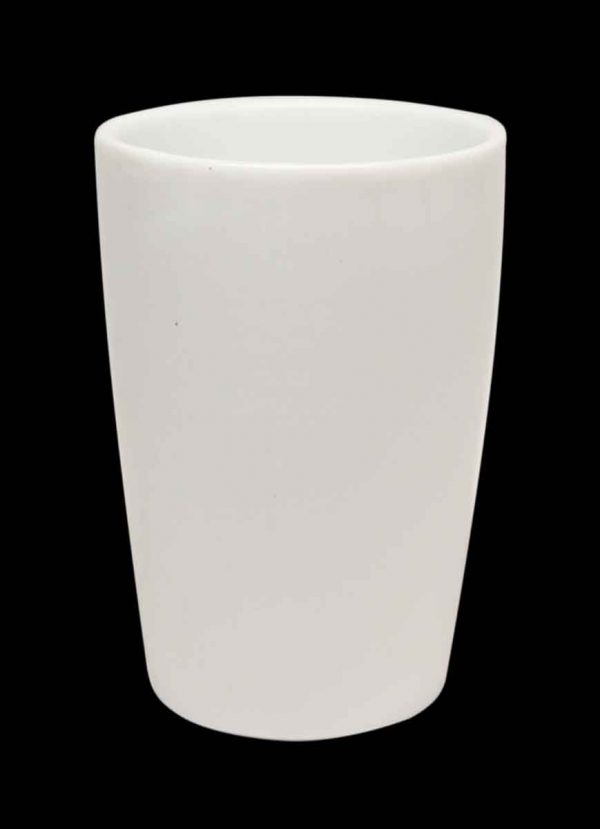 Vintage Classic White Ceramic Rinse Cup - Bathroom