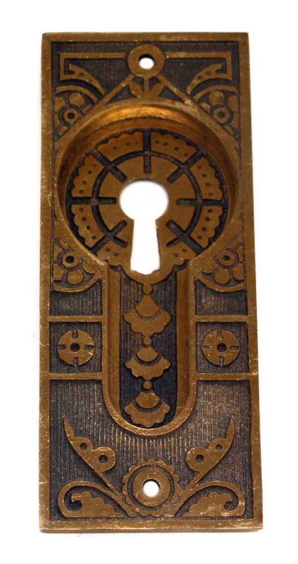 Antique Aesthetic Style Recessed Pocket Door Plate - Pocket Door Hardware