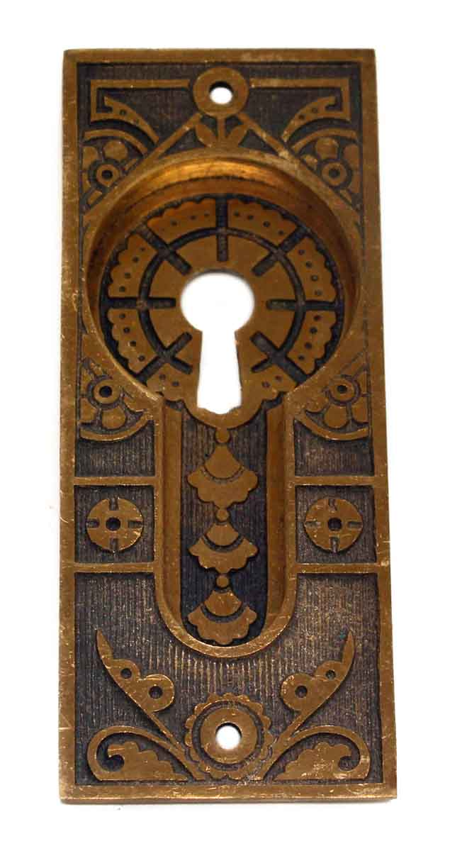 Antique Aesthetic Style Recessed Pocket Door Plate