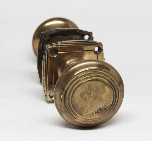 Vintage Art Deco Brass Concentric Knob Set - Door Knob Sets