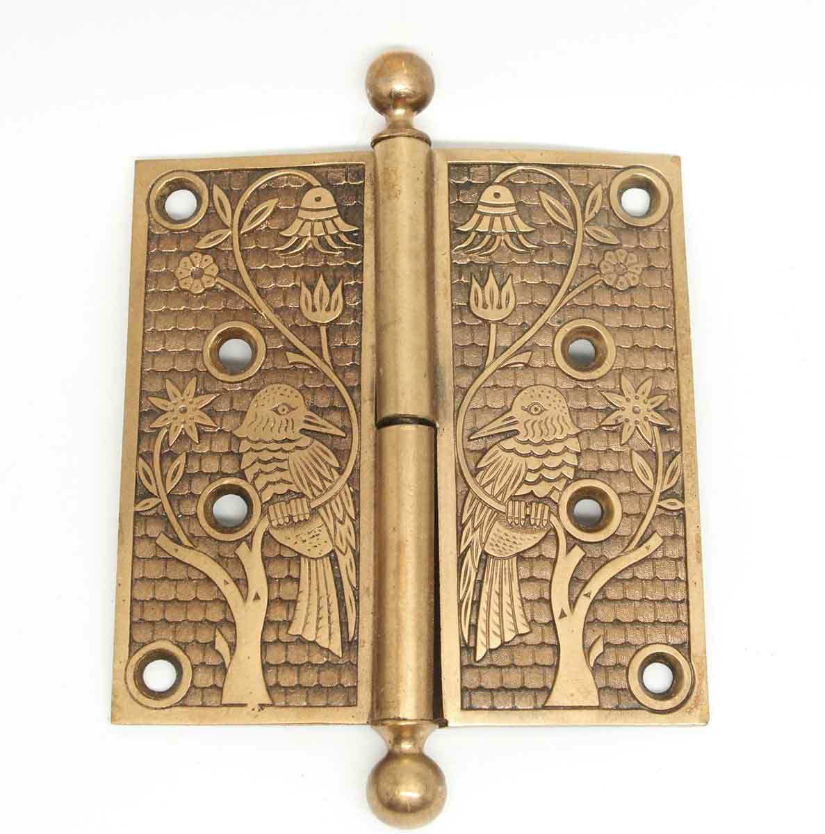 Antique Aesthetic Bronze Bird Hinges with Ball Final