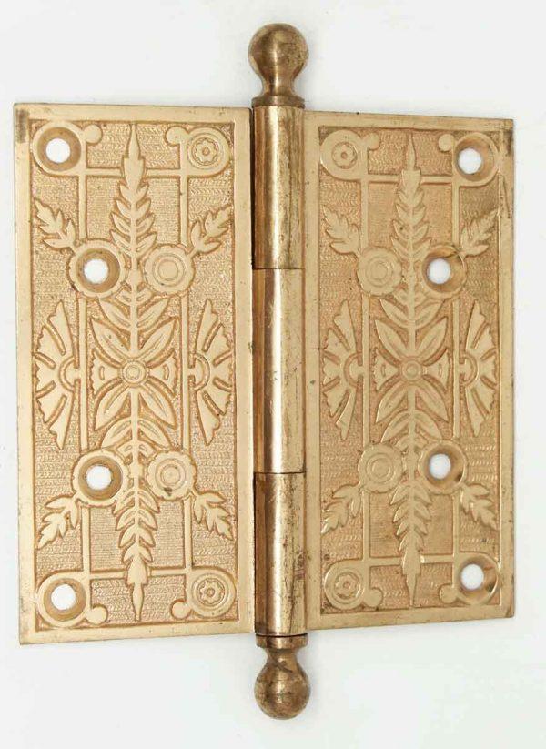 Antique Victorian Gilded Bronze Hinge - Door Hinges