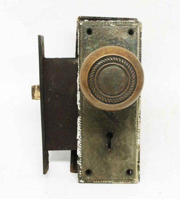 Antique Bronze Concentric Knob Set with Mortise Lock - Door Knob Sets
