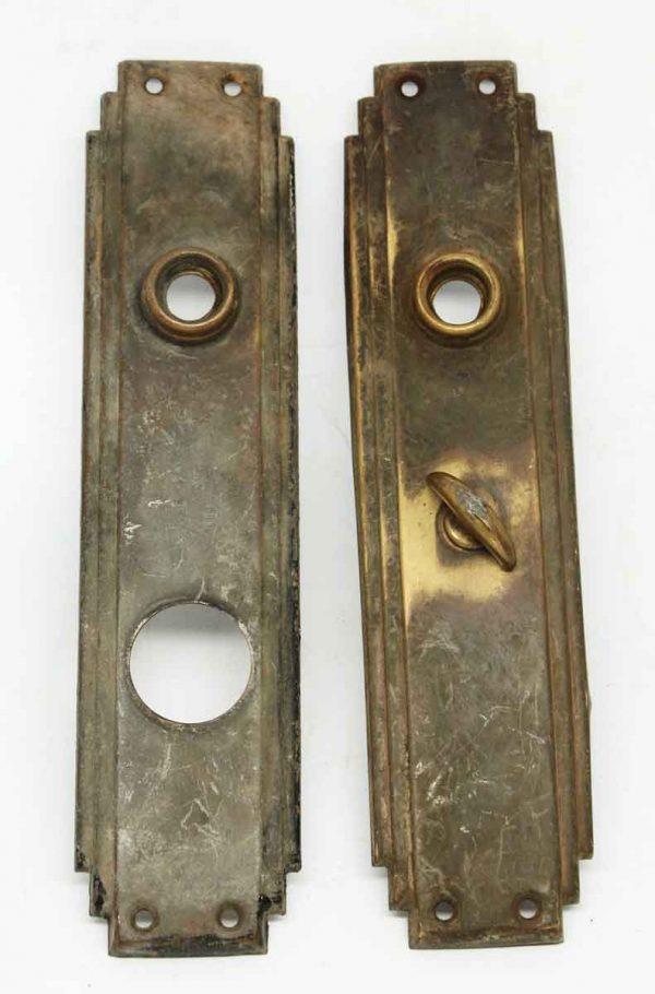 Antique Pair of Bronze Deco Plates - Back Plates