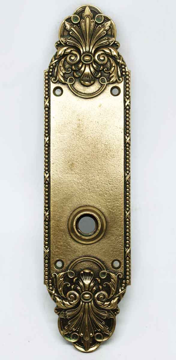 Antique Neo Classical Sargent Brass Door Back Plate - Back Plates