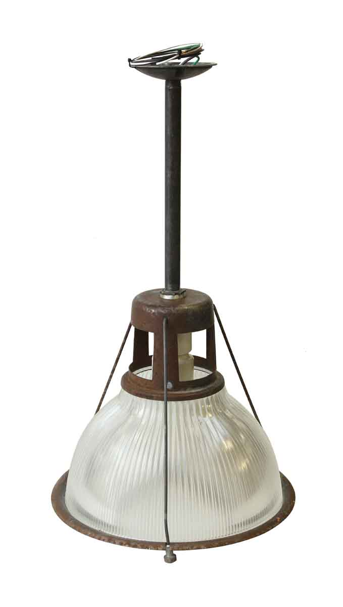 14 In Industrial Holophane Factory Pendant Light Olde