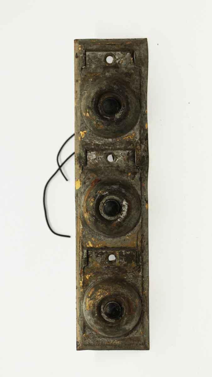 Vintage Apartment Triple Doorbell Knockers Door Bells