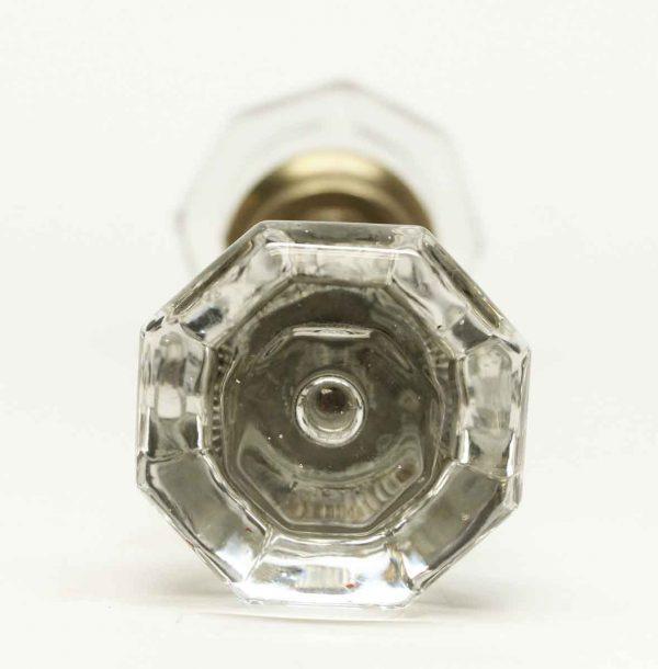 Vintage Bullet Centered Clear Glass Knobs - Door Knobs
