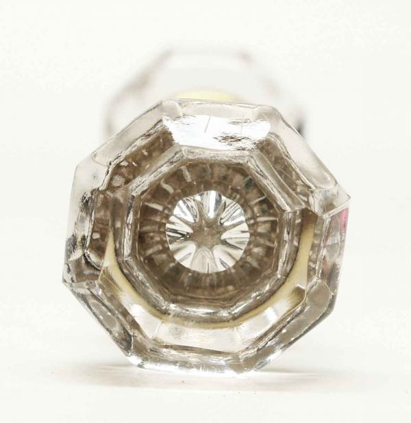 Vintage Clear Glass Knob Set - Door Knobs